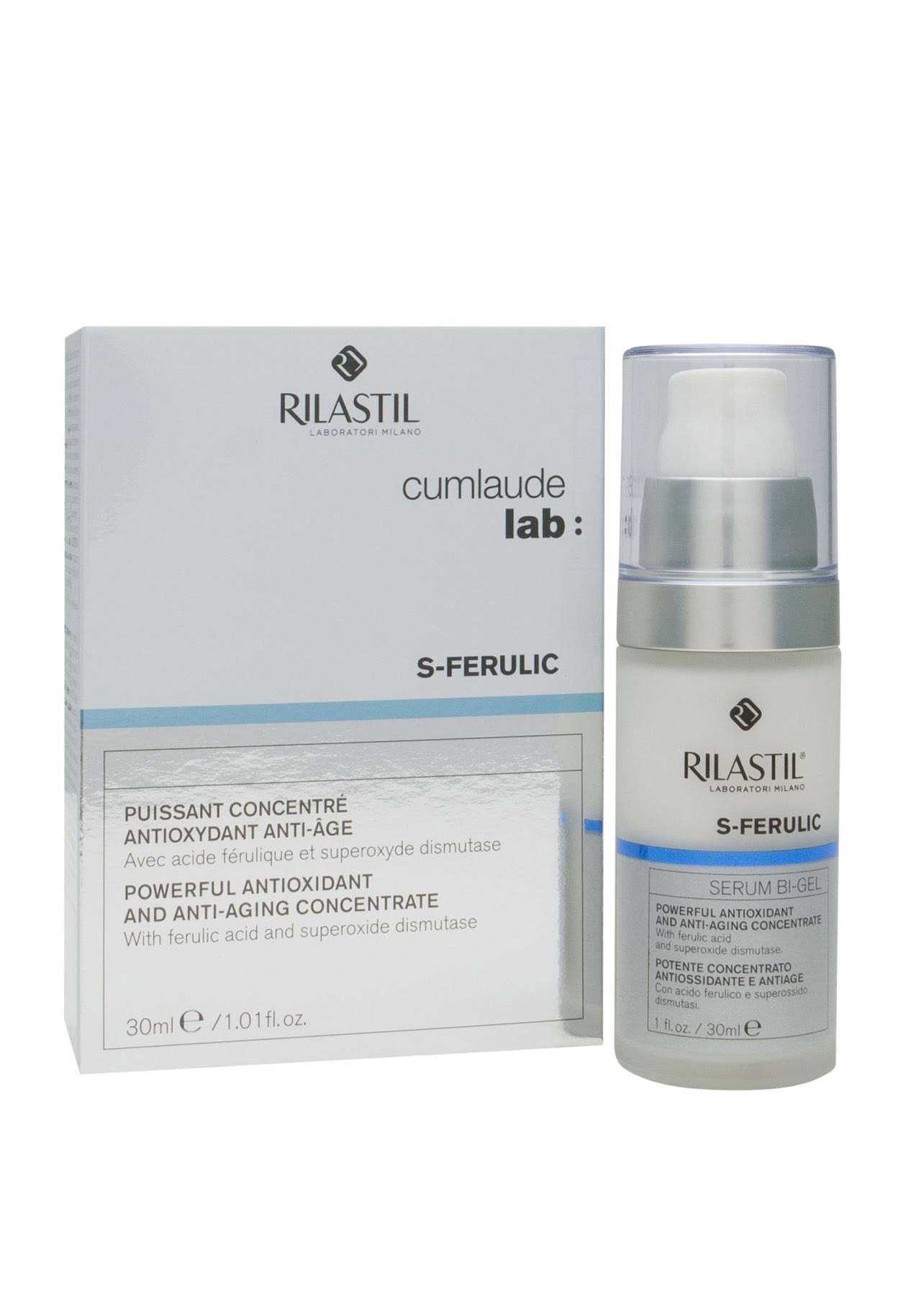 Cosmetics Superoxide Dismutase concentrate Rilastil S-Ferulic from Cumlaude Lab