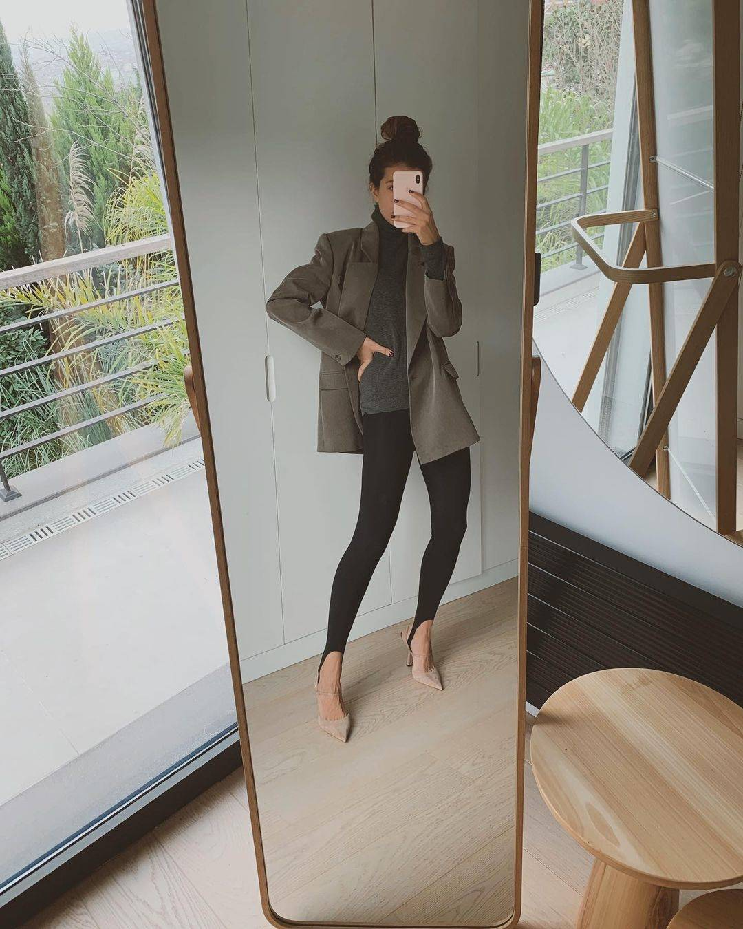 Leggings fuseau + blazer