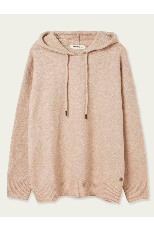El Corte Inglés knit-sweatshirt-brownie, € 59.99