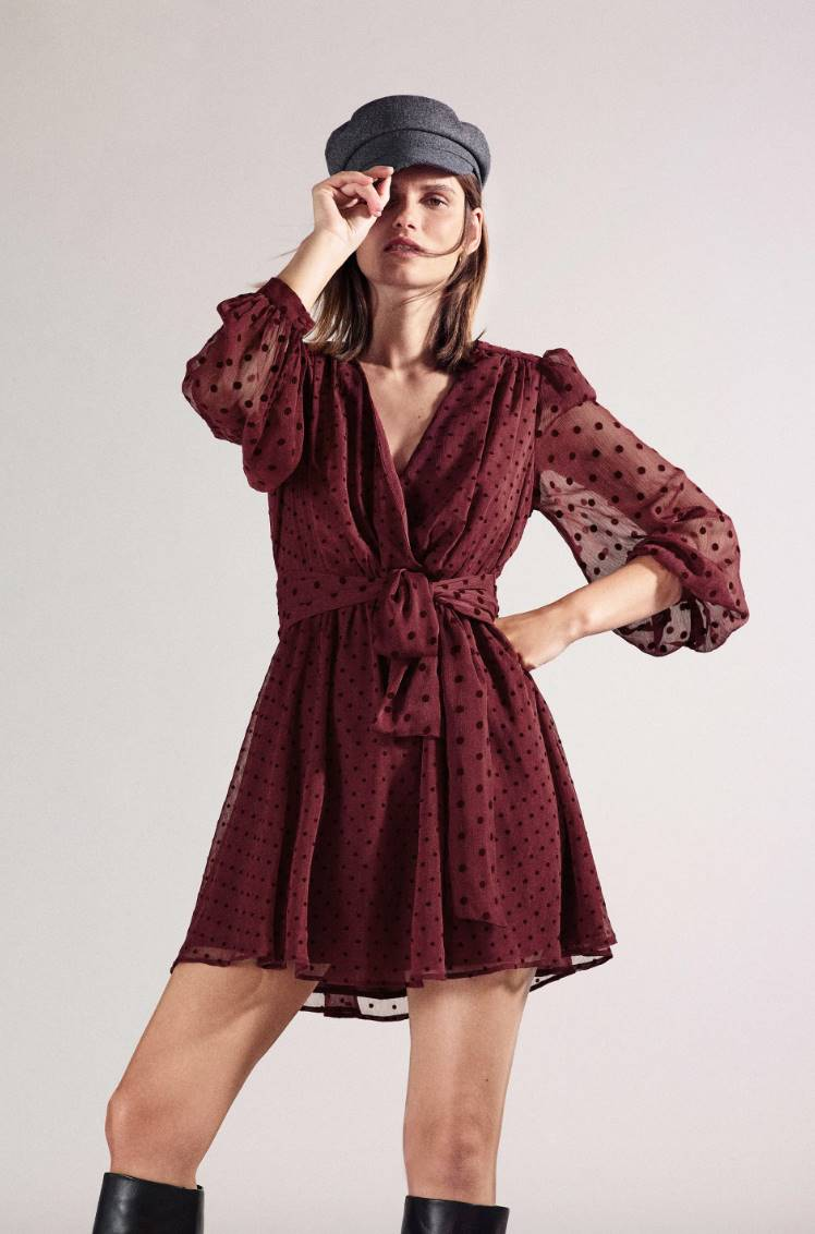 Mini plumeti dress