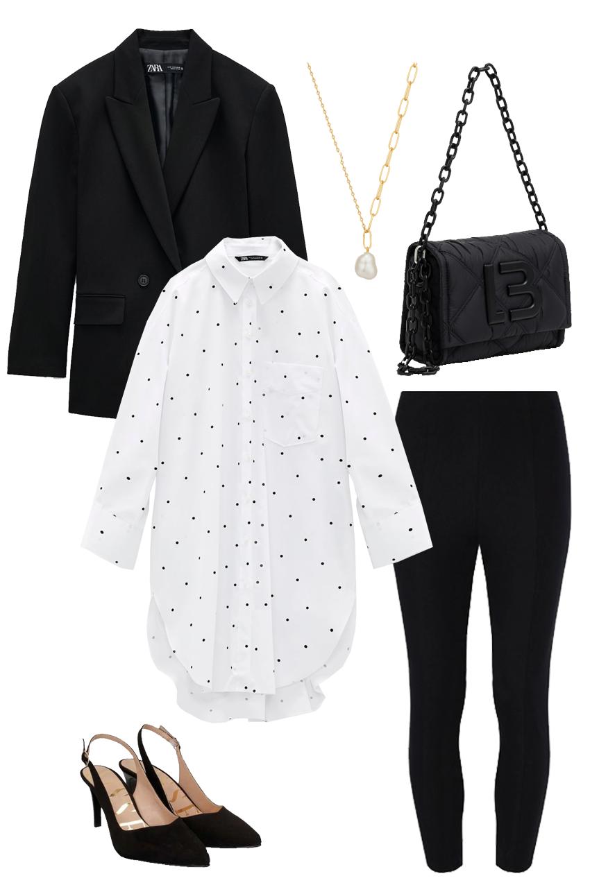 One garment, 5 looks: how to wear black leggings