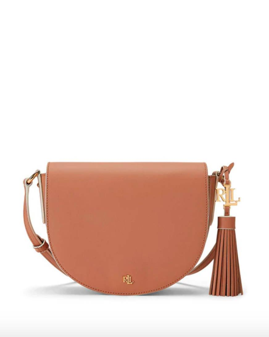 LAUREN RALPH LAUREN Lauren Ralph Lauren Witley women's small crossbody bag in natural calf leather with contrasting piping