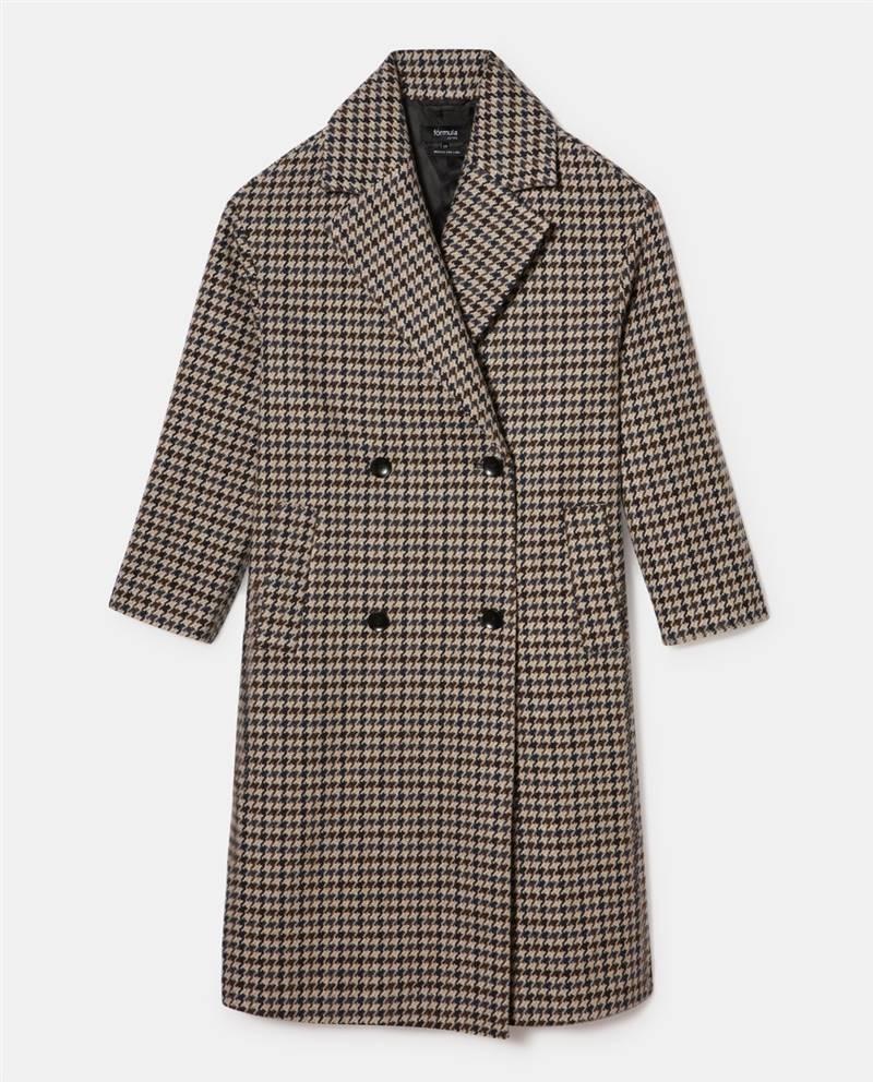 Oversized checkered coat the English cut
