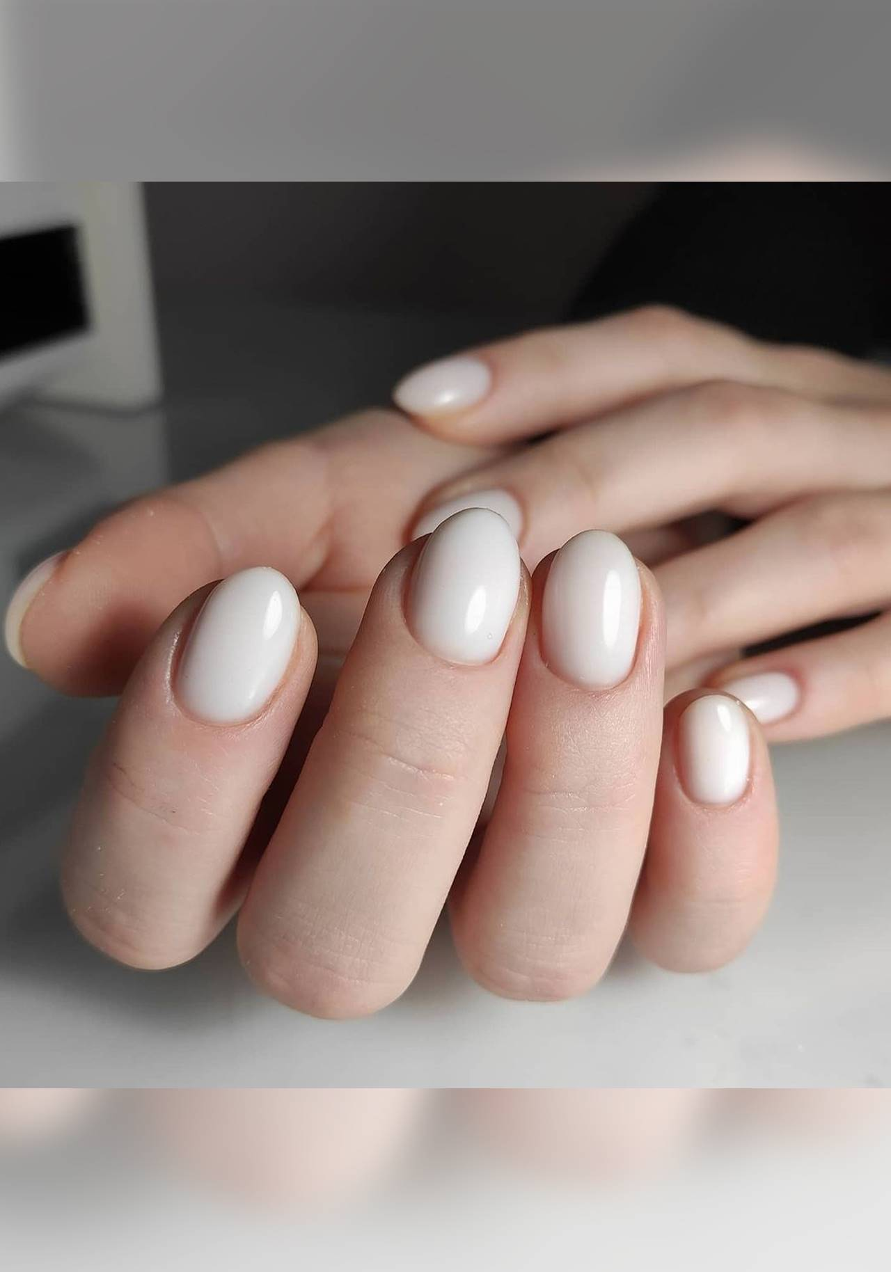 milky nails