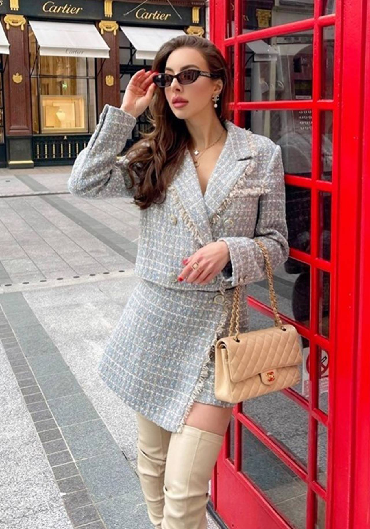 LOOK SHEIN MOFT conjunto tweed