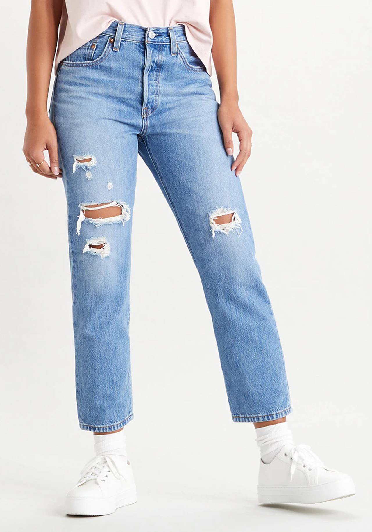 Jeans ripped rectos