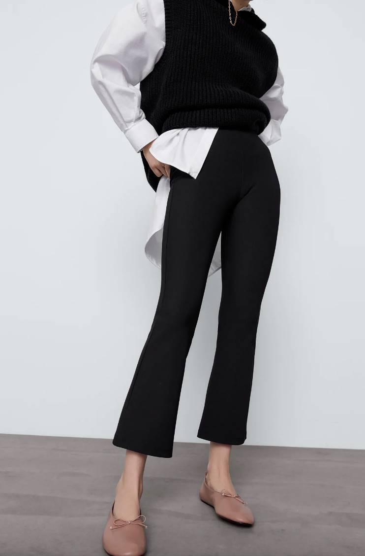 Leggings mini flare