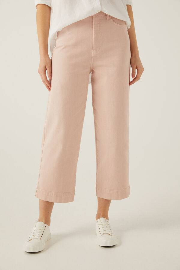 Jeans culotte color